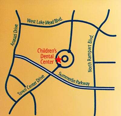 Map of Children's Dental Center - Pediatric Dentist Office in Las Vegas and Henderson, NV